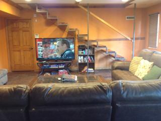 Entertainment Area with brand new reclining sofas 4-5-16