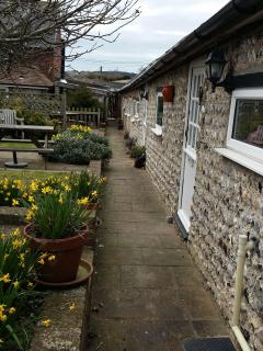 Our cottages in the flint barn