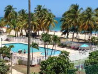 The view from our Balcony! Our pool and the beach.