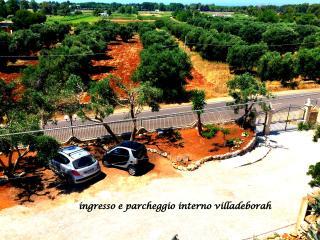 ampio parcheggio interno alla villa video sorvegliato 24h su 24