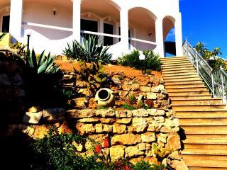 la splendida scalinata che porta al terrazzo dell appartamento  Orchidea