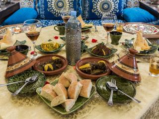 It is possible to book a dinner in the ryad. We have a wide range of traditional meals