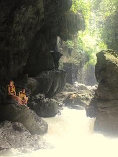 Green Canyon, 20 minute by motorbike from Batukaras. Looking for adventure?Do the body rafting trip