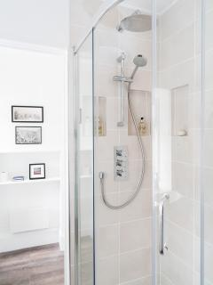 Luxurious shower of your choice.