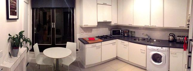 Large, fully equipped kitchen breakfast table. Large fridge/freezer, clothes washer/dryer