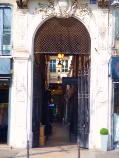 The entrance of the passage
