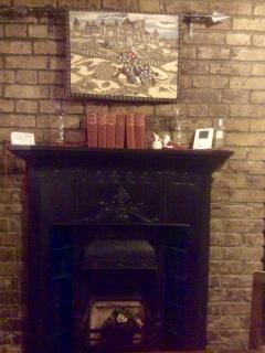 One of my favourite parts of the gateHouse. Beautiful tapestry hung over the fireplace.