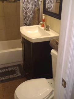 private full bathroom, small