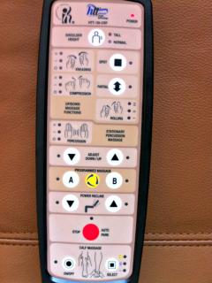 Massage chair control.