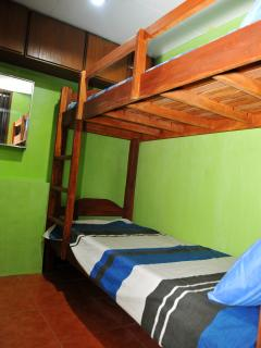Small 3 rd bedroom with bunk beds