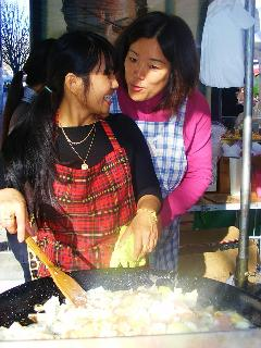Food, fun and laughter at the market (CR. M. Terry)