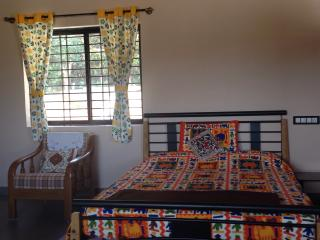 The bed area of Ashirwad 'Studio'