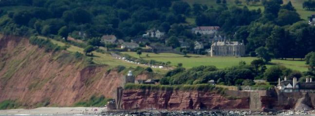 beautiful  Jurassic coast line of Sidmouth