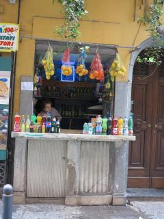 in Via Tribunali, if you are thirsty (characteristic old water kiosk)