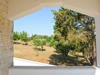 appartamento in villa con veranda e giardino