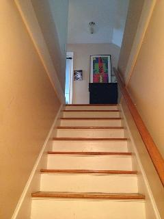 Stairs to second floor.