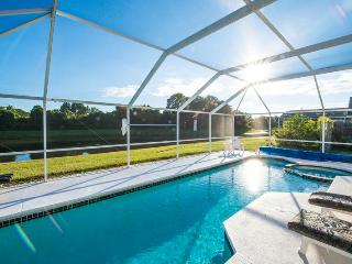 Florida Lake View Villa with 36ft South facing Pool.