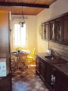 Main Kitchen Diner with extendable table, well equipped including Microwave. Ample work surfaces.