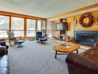 Summit County ski lodge w/slope view & resort pool & hot tub