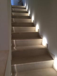 LED lit staircase