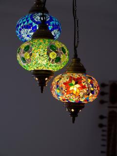 Apartamento AGRA. Detalle de lámpara del comedor