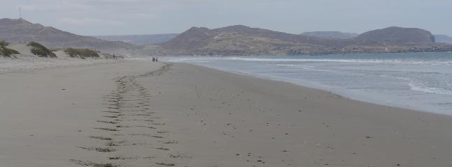 En la playa de Vichayito