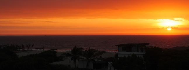 vista de la terraza de la puesta de sol