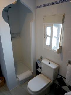 Shower in en suite bathroom. Ducha en el baño privado.