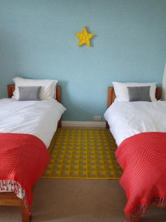 Second bedroom with twin beds.