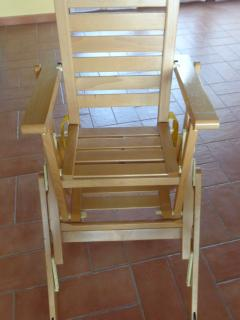 Baby's high-chair with flip-over tray