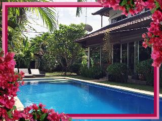 Villa Palm - fully enclosed pool-safe family 3bd/bth A/C pool WIFI Seminyak