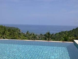 Swimming pool, ocean view