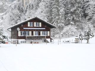 The chalet in the winter