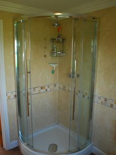Tiled shower cublcle