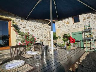 Gite Chataigne holiday home with Pool Nontron France Dordogne.Sleeps 4.