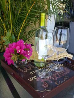 Wine on the lanai