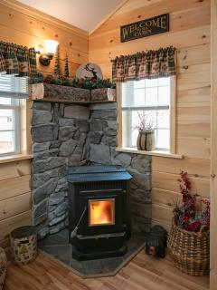 Fireplace for those cooler nights