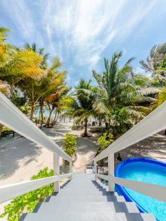 Enjoy incredible Caribbean views and true beach front experience
