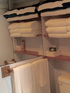 Fresh, brand new towels.