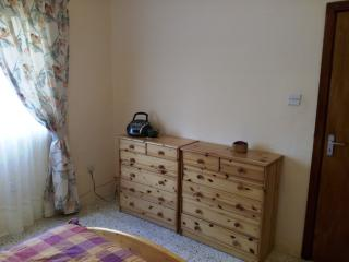 bedroom 1, double bed  and chest of drawers