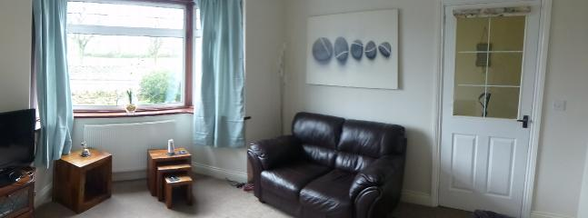 Living room with freeview TV and DVD player