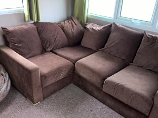 Corner sofa where a small double bed will pull out