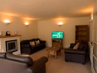 Spacious lounge with 40' smart TV, Blue Ray and Wii console