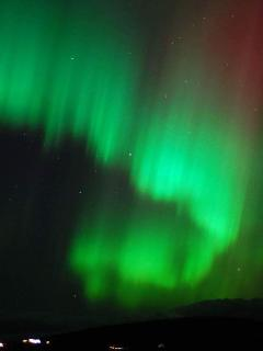 Northern lights frequently seen here.