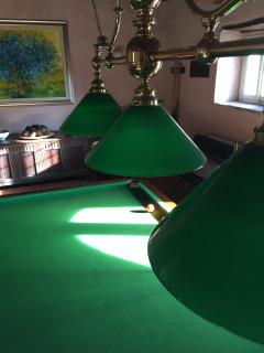 The billiards room and dining room