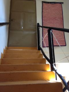 Stairs to apartment entrance