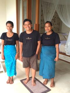 Made your host with our 2 lovely housekeepers, Kadek & Wayan