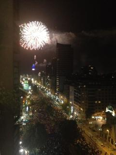 New Years Eve fireworks from the balcony