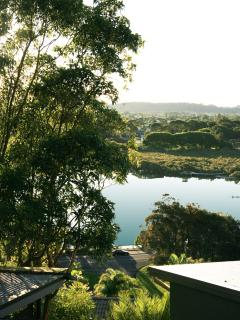 view from bedroom deck down to Currumbin Creek