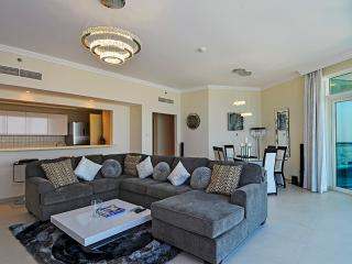 'Lounge with dining area very comfortable sofia,  smart samsung television and sound system'